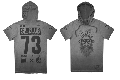 SP CLUB  T-SHIRT HOOD CHALLENGE T-SHIRT